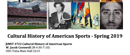 AMST3723 Cultural History of Am Sport