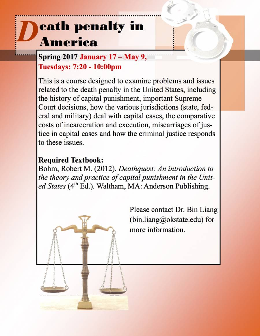 AMST3950-SOC4950 Death Penalty in America