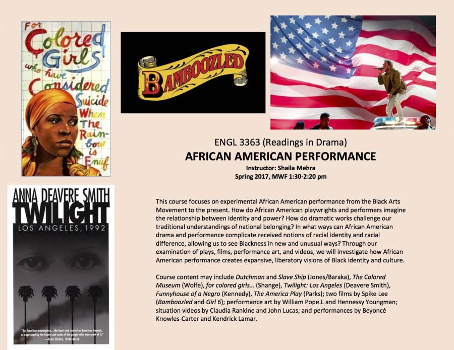 ENGL3663 African American Performance